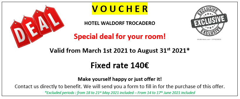 Discover the Valentine's Day offer at the Waldorf hotel.